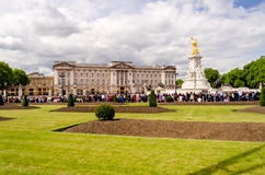 The guard ceremony at Buckingham Palace, London Stock Photo