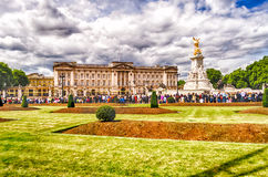 The guard ceremony at Buckingham Palace, London Stock Photography