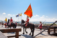 The guard change at Alba Iulia Fortress Stock Photos