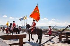 The guard change at Alba Iulia Fortress stock photos