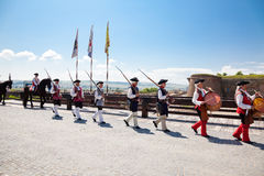 The guard change at Alba Iulia Fortress Royalty Free Stock Images