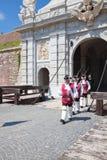 The guard change at Alba Iulia Fortress royalty free stock image