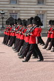 Guard change in Buckingham Palace Royalty Free Stock Photos