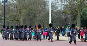 Guard change in Buckingham Palace Royalty Free Stock Photo