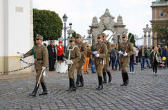 Guard change ceremony in Budapest Stock Image