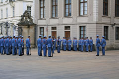 Guard change ceremony in Prague Stock Images