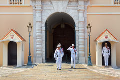 Guard change in Monte Carlo, Monaco. Royalty Free Stock Photo