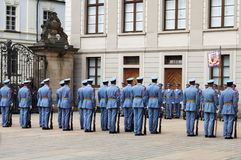 Guard change in in Prague Castle Stock Images