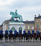 Guard Changing Ceremony at Amalienborg Palace Stock Photo