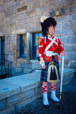 Guard, Citadel, Halifax, Nova, Scotia. A man in historical uniform stands guard at the Citadel National Historic Site, in Halifax, in the maritime province of royalty free stock image