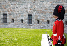 On guard at the Citadelle Quebec City Stock Photography