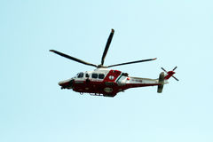 Guard coast helicopter Royalty Free Stock Image