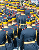 Guard contingent parade at Navy Day Royalty Free Stock Photos
