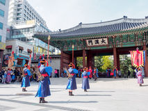 Guard of the Deoksugung Palace Stock Photo