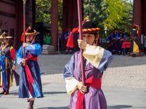 Guard of the Deoksugung Palace Royalty Free Stock Photos