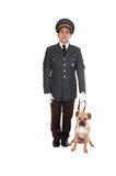 Guard with dog. Royalty Free Stock Photos