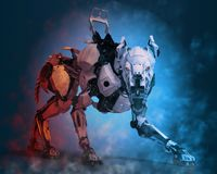 Free Guard Dog Robot Security System Stock Photography - 124804142