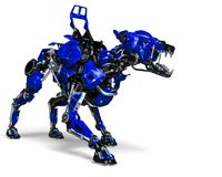 Free Guard Dog Robot Security System The Blue One Royalty Free Stock Image - 124804166