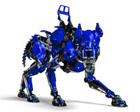 Free Guard Dog Robot Security System The Blue One Stock Photography - 124804172