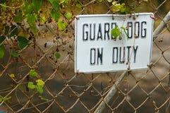 Guard Dog Sign Stock Photo