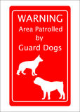 Guard Dogs Warning Sign vector illustration