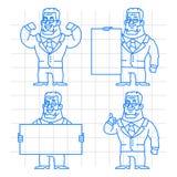 Guard doodle concept set 1 Stock Images