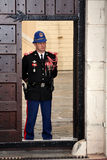 Guard on duty at residence of Prince of Monaco Stock Photos