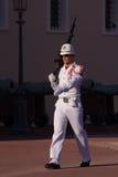 Guard on duty at Royal palace of Monaco Royalty Free Stock Image