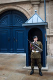 Guard in front of Grand Ducal Palace. LUXEMBOURG, NOVEMBER 17: Guard in front of Grand Ducal Palace in Luxembourg on November 17, 2012.  It is the official Royalty Free Stock Images