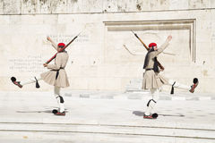 Guard in front of the Greek Parliament, May 2014. Athens Stock Images