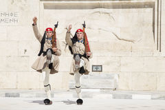 Guard in front of the Greek Parliament, May 17. 2014. Athens Stock Photography
