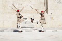 Guard in front of the Greek Parliament, May 17. 2014. Athens Stock Images