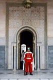 Guard in front of the Mausoleum of Mohamed V Stock Image