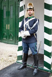 Guard in front of Museum of National Republican Guard, Lisbon, Portugal Stock Image