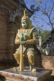 The guard in front of a temple in Chiang Mai Stock Images