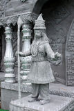 The guard in front of a temple made by iron net. Stock Images