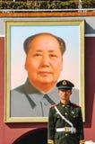 guard fyrkantiga tiananmen royaltyfria bilder