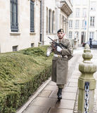The guard goes to the post. Grand Duchy of Luxembourg, Luxembourg- January 03,2017: The guard goes to the post Stock Photography