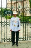 Guard in The Grand Palace. Bangkok. Thailand. Royalty Free Stock Images