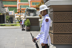 Guard at the Grand Palace in Bangkok, Thailand Royalty Free Stock Photo