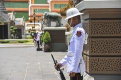 Guard at the Grand Palace in Bangkok, Thailand Royalty Free Stock Photo