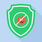 Guard Green Shield Icon antivirus Royalty Free Stock Photography