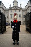 A Guard guards the entrance in Whitehall Stock Image