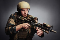 Guard with gun Stock Photography
