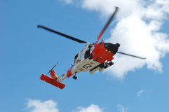Guard Helicopter. US 102nd Civil Support Team in training excersise utilizing a US Coast Guard Helicopter, Sunriver Oregon, May 7, 2007 Stock Images