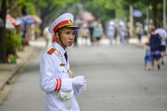 Guard at the Ho Chi Minh Mausoleum Stock Photography