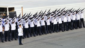 Guard-of-Honor contingent firing feu de joie Stock Photography