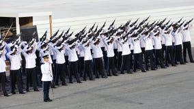 Guard-of-Honor contingent firing feu de joie Stock Photography
