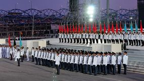 Guard-of-honor contingents at NDP 2009 Royalty Free Stock Image