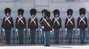 Guard of honor in copenhagen Royalty Free Stock Image